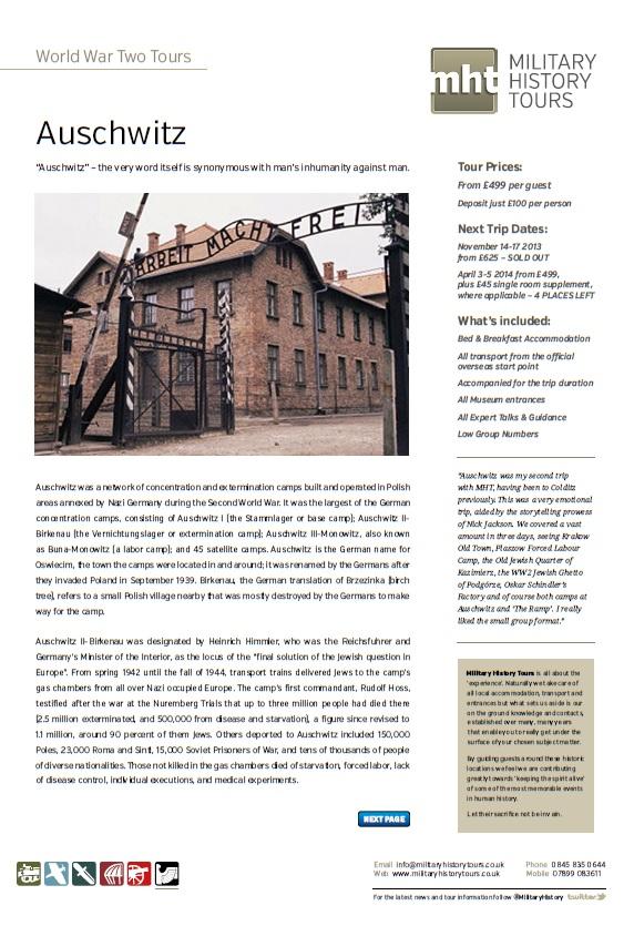Auschwitz Front Page