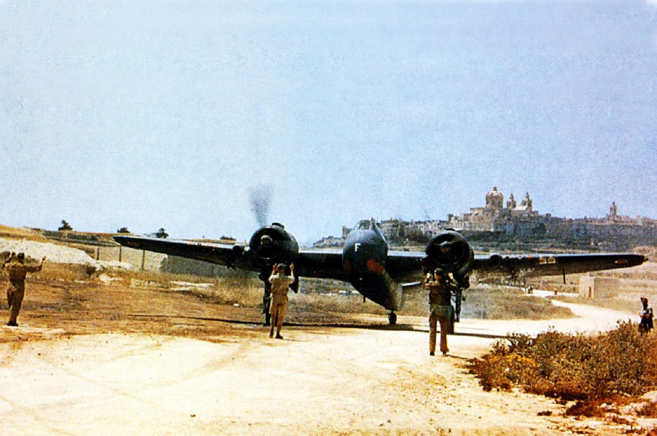 Beaufighter-MkVIF-RAF-272Sqn-White-F-Freddie-on-the-taxiway-at-Luqa-Malta-02 web