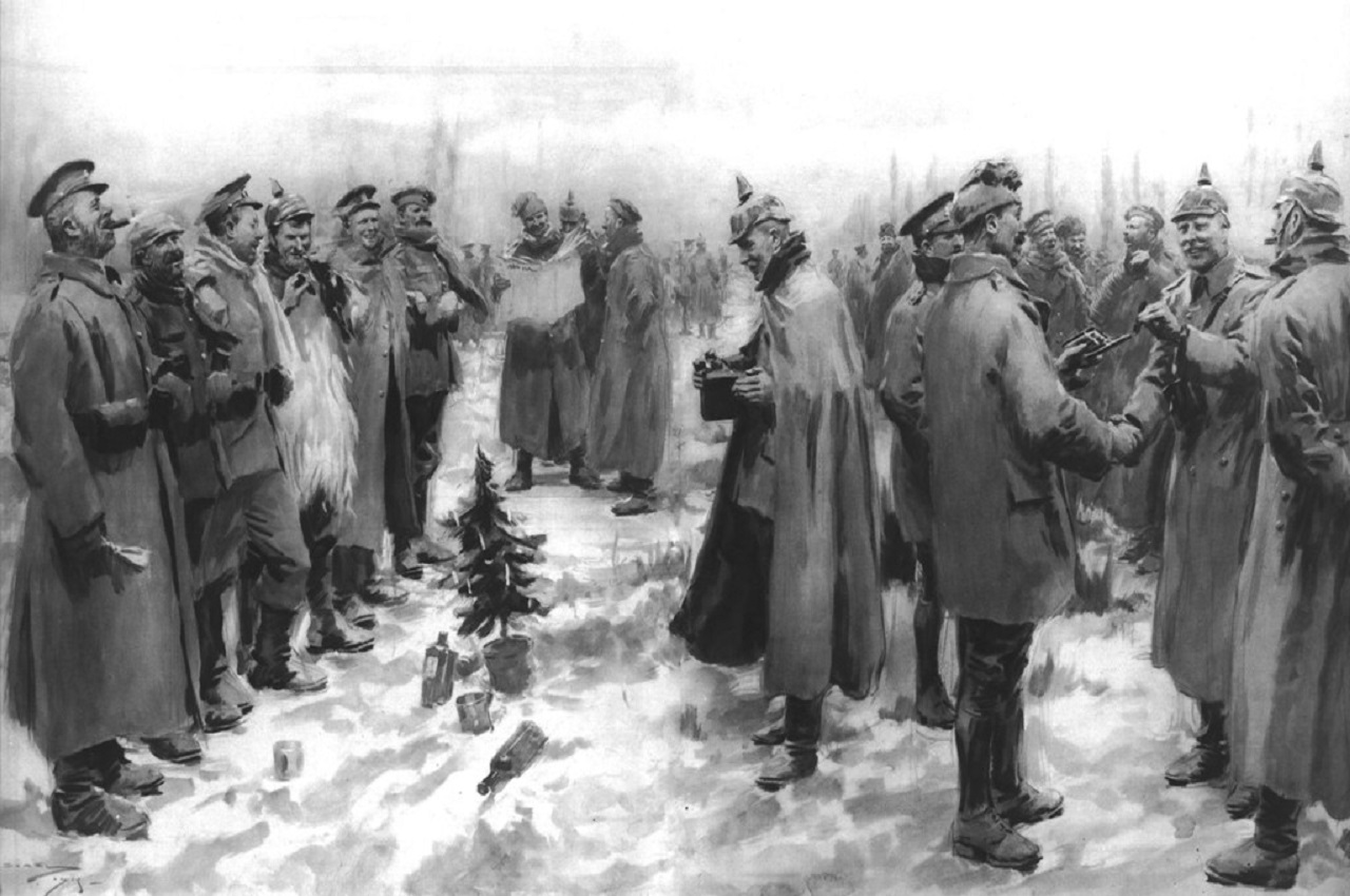 Christmas Day Truce of 1914 published 1915 London Illustrated News