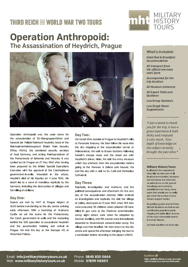 Heydrich Itinerary