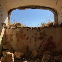 Inside a bunker at Cape Murro di Porco