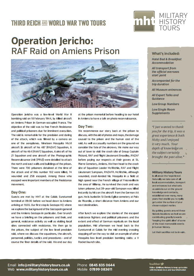Operation Jericho RAF Raid on Amiens Prison Image