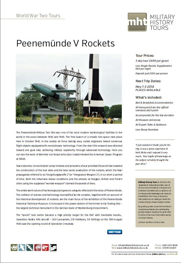 Peenemunde V Rockets Front Page