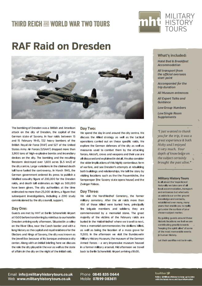 RAF Raid on Dresden Trip