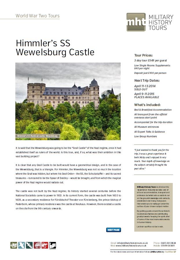 Wewelsburg Castle & Himmler's SS Front Page