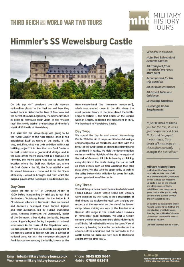 Wewelsburg Itinerary